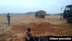李孟忠被徵地者唆使閒散人員打暈