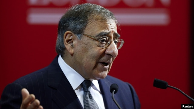 U.S. Defense Secretary Leon Panetta delivers a speech on the future of transatlantic relationships and the future of U.S. defense at King's College in London, England, January 18, 2013.