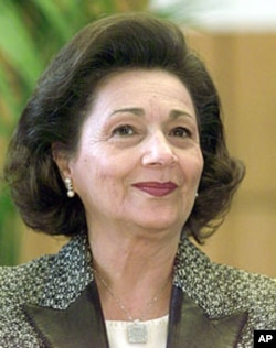 Suzanne Mubarak, wife of ousted Egyptian President Hosni Mubarak (file photo)