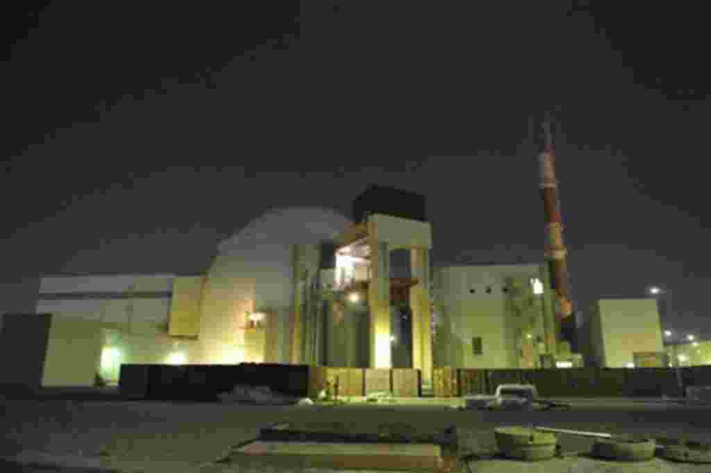 In this photo released by the semi-official Iranian Students News Agency (ISNA), the reactor building of Iran's Bushehr Nuclear Power Plant is seen, just outside the port city of Bushehr 750 miles (1245 kilometers) south of the capital Tehran, Iran, Monda