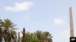 """""""Thiat"""" s'adressant à une foule à Dakar le 23 juillet"""