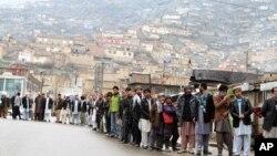 دور اول انتخابات افغانستان
