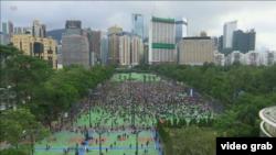 香港銅鑼灣維多利亞公園反送中集會 2019年8月11日 (視頻截圖)