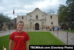 Meyer is one of more than 1 million people who visit the Alamo each year.