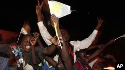 南蘇丹人民慶祝獨立。