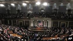 奥巴马总统1月24日在国会山发表国情咨文