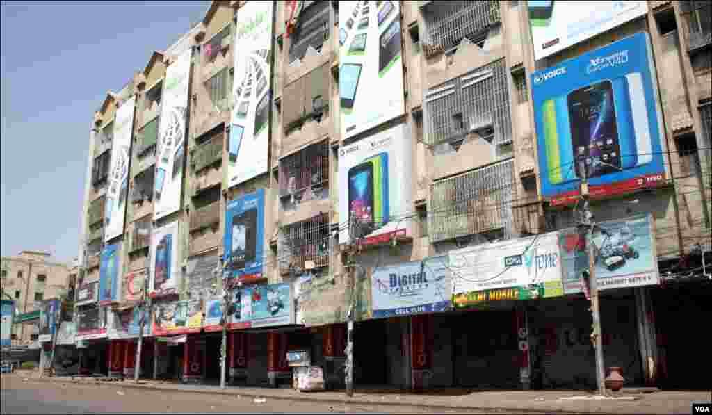 سخی حسن پر واقع سرینا موبائل مارکیٹ جو بدھ کے روز مکمل طور پر بند رہی _12
