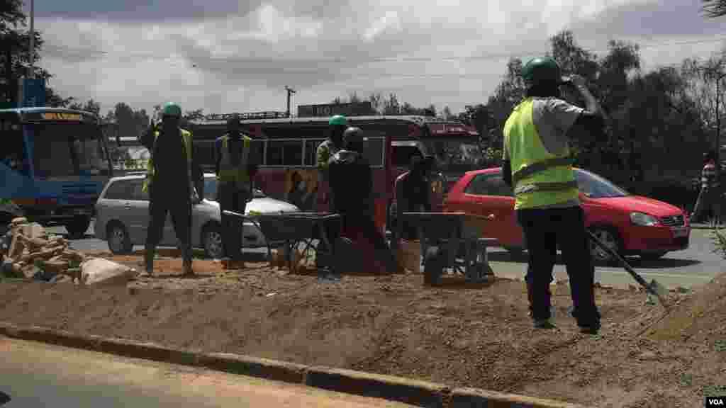 Usafishaji na matayarisho katika barabara ya Uhuru Highway
