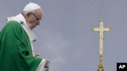 Папа римский Франциск. Каунас, Литва. 23 сентября 2018 г.