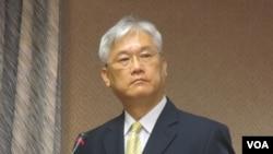 台湾陆委会主委夏立言(美国之音张永泰拍摄)