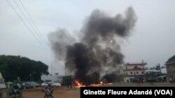 Mouvement de protestation dans quelques villes du Bénin, le 3 mars 2019. (VOA/Ginette Fleure Adandé)