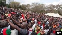 Masu zanga zanga a Malawi