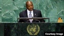 FILE- President Pierre Nkurunziza of Burundi.