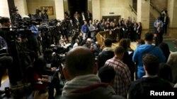 BM'nin Cenevre'deki merkezinde basın açıklaması yapan Suriye Özel Temsilcisi Staffan de Mistura