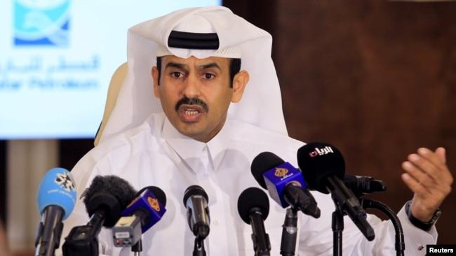 Mentri EnergiSaad al-Kaabi, di Doha, Qatar, 4 Juli 2017. (REUTERS/Naseem Zeitoon).