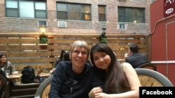 Vylyny Chat (right) is a Ph.D. student in epidemiology at New York University. (Facebook)