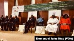 Ouverture de la 7e conférence internationale sur les guichets unique à Yaoundé, le 17 septembre 2019. (VOA/Emmanuel Jules Ntap)