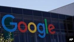 谷歌在加州总部的标识。(2016年7月19日)