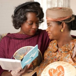 "Viola Davis (left) plays Aibileen Clark in ""The Help."""