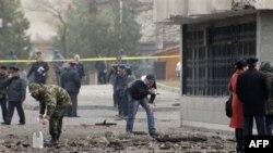 Место взрыва в Бишкеке