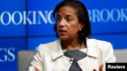 Bà Susan Rice, cố vấn an ninh quốc gia của Tổng thống Barack Obama trả lời các câu hỏi tại Viện Brookings ở Washington, ngày 6/2/ 2015.