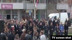 Obeležavanje 17 godina od početka NATO bombardovanja u Gračanici