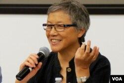 天安门学运领袖王超华(美国之音国符拍摄)