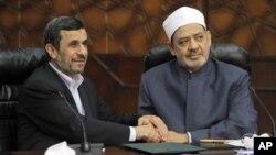 Махмуд Ахмадинежад и Ахмед аль-Тайеб