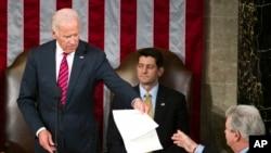 """1月6号星期五,美国国会两院在美副总统拜登宣布""""都结束了""""声中验证共和党候选人唐纳德·川普当选美国总统。"""