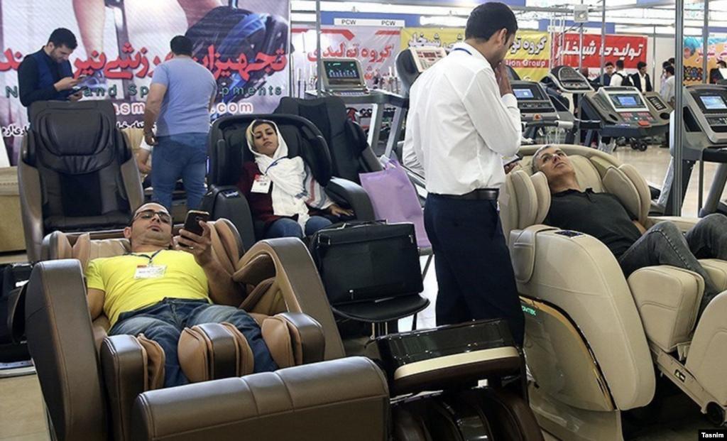 شانزدهمین نمایشگاه تجهیزات ورزشی در مصلی تهران در حال برگزاری است. عکس: مقداد مددی