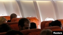 Un asiento vacío supuestamente reservado para el excontratista de la NSA, Edward Snowden, en el vuelo de Aeroflot hacia Cuba.