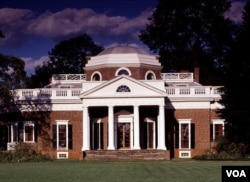 "Thomas Jefferson chose Italian Renaissance as the design for his Monticello Mansion. He called his home ""an essay in architecture."" (Carol M. Highsmith)"