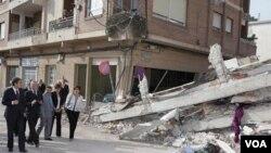 El 80% de los edificios de Lorca, en España, se vieron afectados por el terremoto de 5,1 grados.