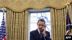 Barak Obama Rusiya prezidenti Dmitri Medvedevlə telefon söhbəti aparıb
