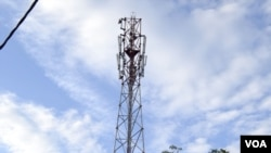 FILE - Mobile network tower.