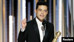 Rami Malek, meilleur acteur, Golden Globes Awards, Beverly Hills, Californie, le 6 janvier 2018