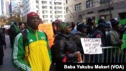 Zanga Zanga a fadar Majalisar Dinkin Duniya Akan Sayarda Mutane A Libya