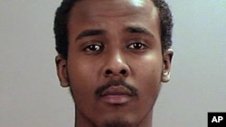Undated file photo provided the Sherburne County, Minn., Sheriff's Office shows Abdirahman Yasin Daud, one of several Minnesota men accused of conspiring to travel to Syria to join the Islamic State group.