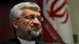 Iran's chief nuclear negotiator Saeed Jalili speaks during a news conference, Jan. 4, 2013.