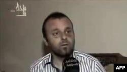 27일 1주일간 실종되었던 터키 사진기자 쿠니옛 우날이 시리아 알 이크바리야 뉴스에 출연한 영상.