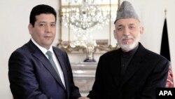 رئیس جمهور کرزی و محمد عالم ساعی، والی جوزجان