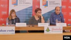 Konferencija za novinar članova Saveta za štampu, u Beogradu 19. februara 2020.