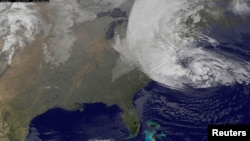 NASA satellites follow ocean storms.