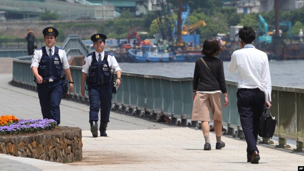 Cảnh sát Nhật tuần tra ở Tokyo (ảnh tư liệu, 2016)