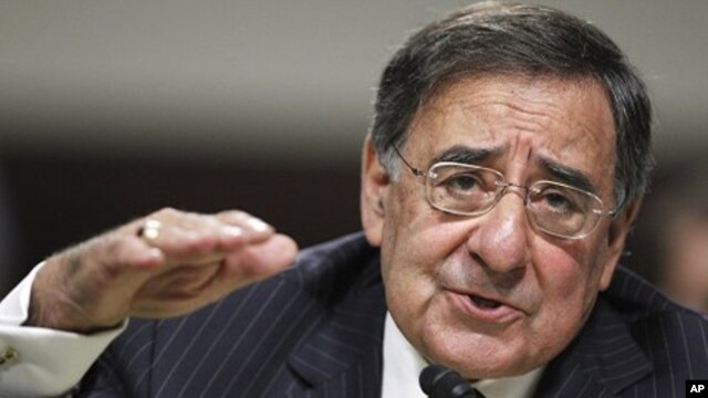 CIA Director Leon Panetta, testifies on Capitol Hill in Washington, before the Senate Armed Service Committe, June 9, 2011