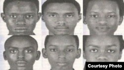 Ces six jeunes Burundais ont disparu à Washington DC, le 18 juillet 2017.