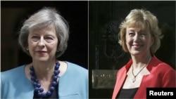 英国内政大臣特蕾莎·梅(左)和能源国务大臣安德里亚·利德森。