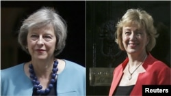 Theresa May (solda) ve Andrea Leadsom