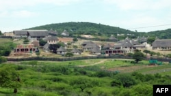 FILE - South African President Jacob Zuma's private residence in Nkandla, some 178 kilometres north of Durban. South Africa's government on December 19, 2013 cleared President Jacob Zuma of any wrongdoing during a controversial $20-million revamp at his p