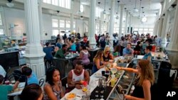 Sunday brunch at the newly renovated St. Roch market in New Orleans.